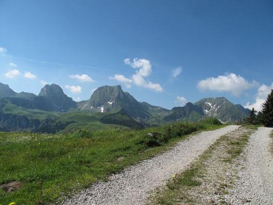 Bereits wenige Meter nach dem Berghaus Gurnigel...