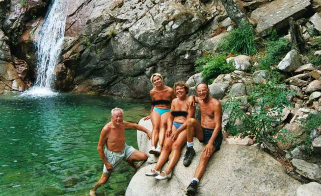 L'une des cascades et piscines de Turcaraccia
