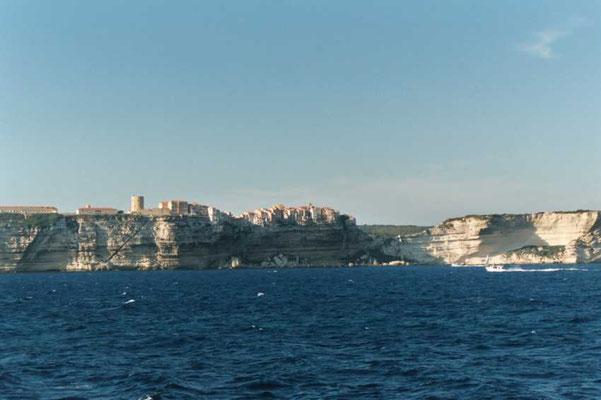 Maisons sur les falaises de Bonifacio