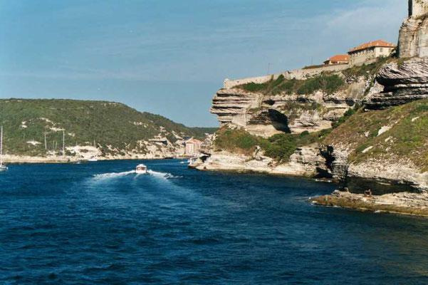Entrée du port de Bonifacio