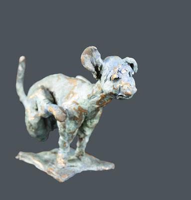 """Bronze """"chien 1964-1"""" • 15x17cm"""