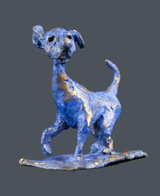 """Bronze """"chien 1964-2"""" • 9x10cm"""