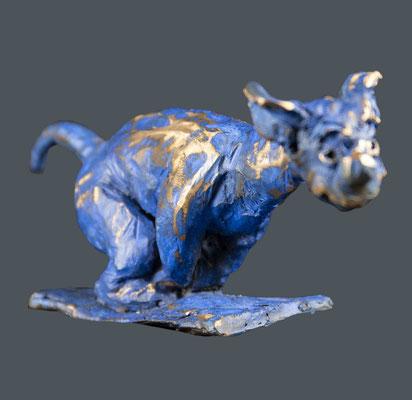 """Bronze """"chien 1964-3"""" • 7x18cm"""