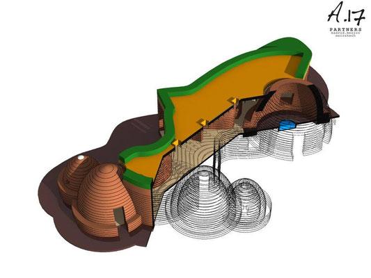 Projection de la maison construite par A17 - Maroc