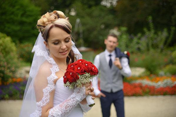 Hochzeitsfoto in Stadpark Weiden in der Oberpfalz