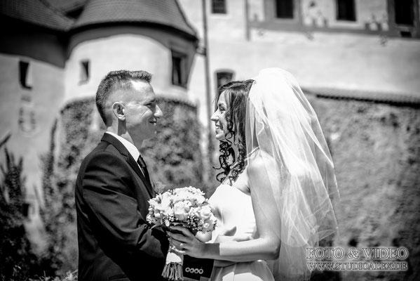 Hochzeitsfotograf bei schloss Burg Wernberg Köblitz