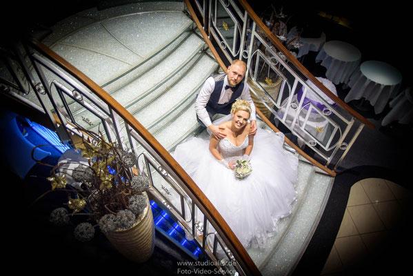 Hochzeit auf Kristallkönigin an der Donau Regensburg