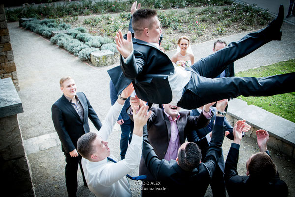 lustiges Hochzeitsbild in Ingolstadt