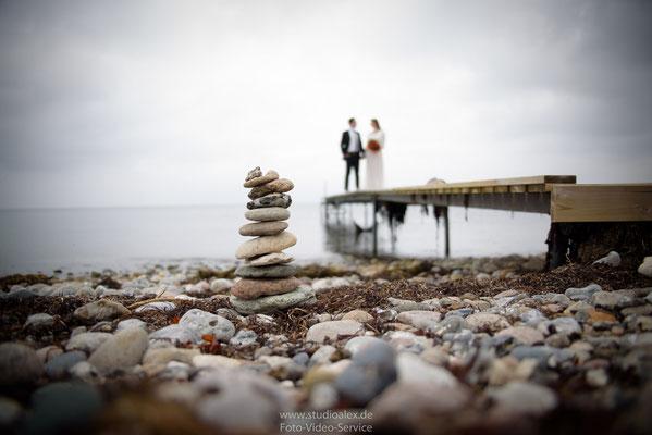 Hochzeitsfotografie am Meer in Dänemark
