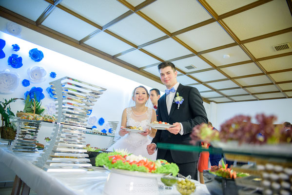 Partyservice für russische Hochzeit im Landgasthof Frauenberg Brunn