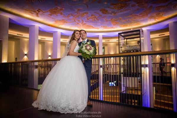 Hochzeitsfotos in Planetarium Hamburg