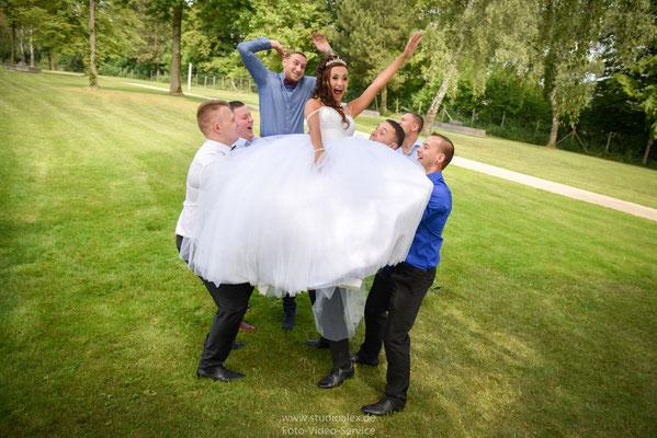 Lustige Hochzeitsfotos in Deggendorf