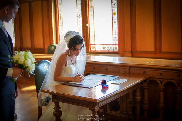 Hochzeitsfotografie im Rathaus Fürth