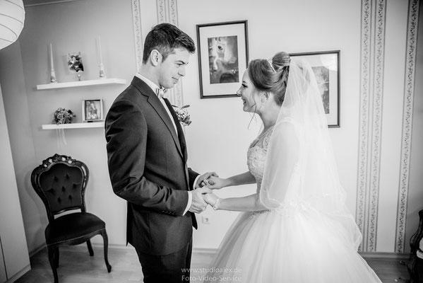 Der beste Moment. Waldemar sieht zum ersten mal seine wunderschöne Braut Victoria!