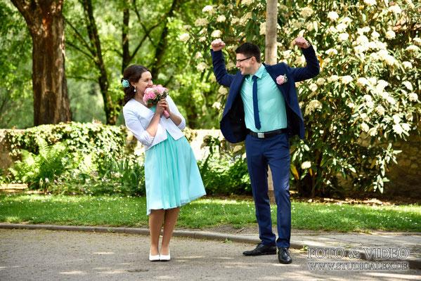 Lustige Hochzeitsfotos in Regensburg