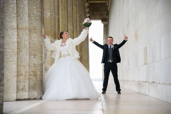 Kreative & Lustige Hochzeitsbilder auf der Walhalla