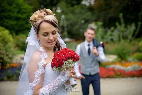 Hochzeitsfotografie in Stadtpark Weiden in der Oberpfalz