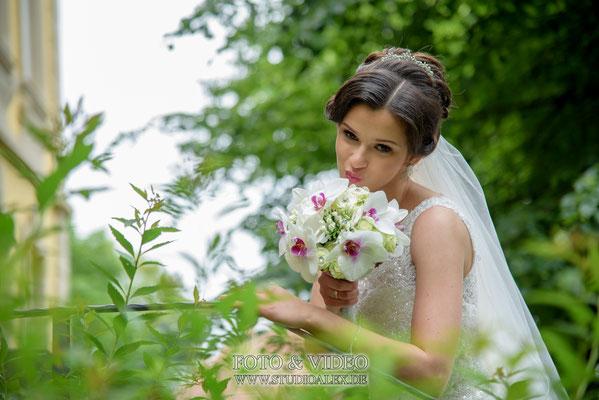 Die schöne Braut in Schweinfurt