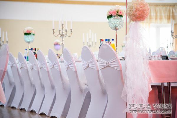 Hochzeitsfotos von der Dekoration Eventhalle Fürth