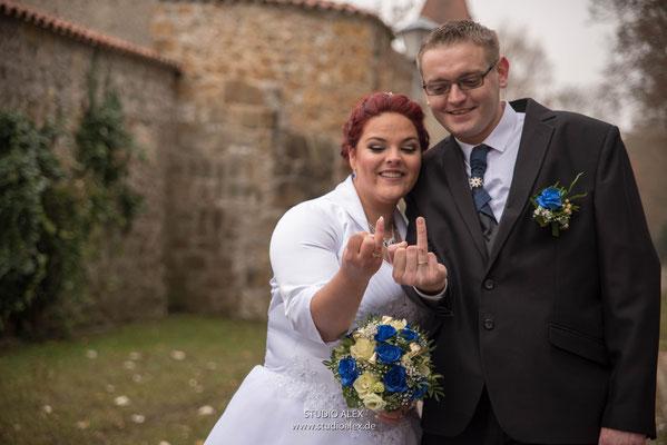 Lustiges Hochzeitsfoto aus Amberg