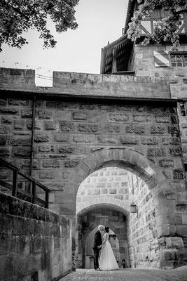 Hochzeitsfotos auf der Burg Nürnberg