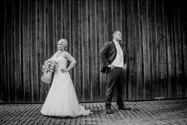 Lustige Hochzeitsfotosin Cham Oberpfalz Bayern
