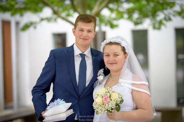 Hochzeitsfotos von Brautpaar Jessica und Edward