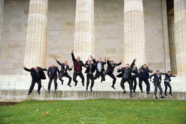 Lustige Gruppenfotos auf der Walhalla