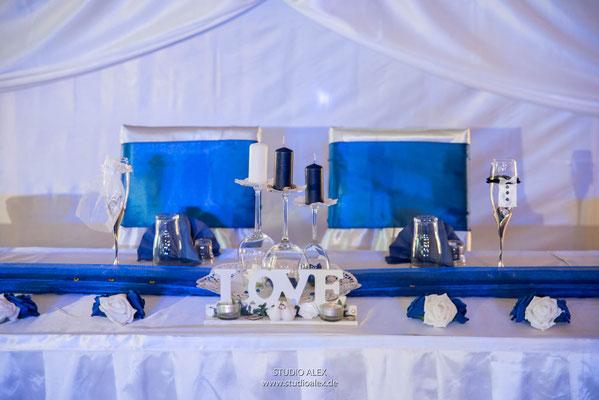 Hochzeitsfotos Dekoration Landgasthof Rouherer