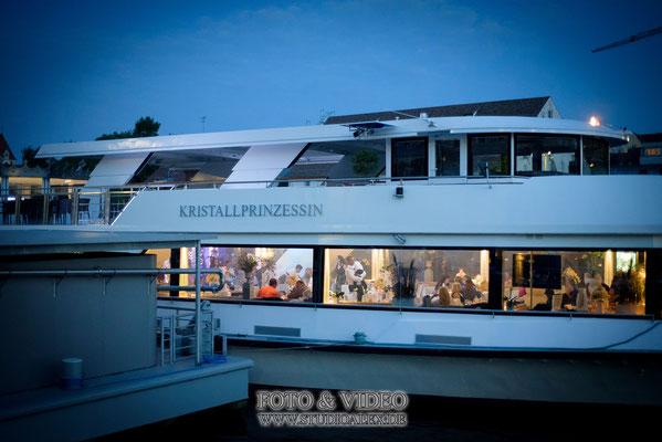 Hochzeitsfotografie für Hochzeit auf dem Kristallschiff Swarovski