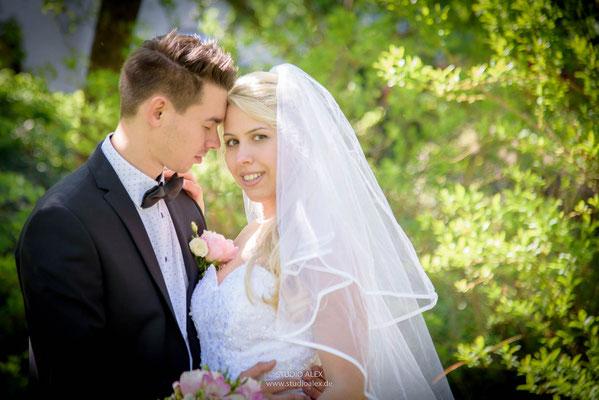 romantische Hochzeitsbilder in Straubing
