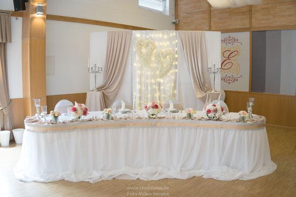 Hochzeitsdeko Eventhalle Fürth