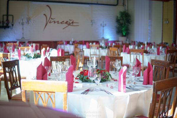 Hochzeitsdekoration in Vineria Nürnberg