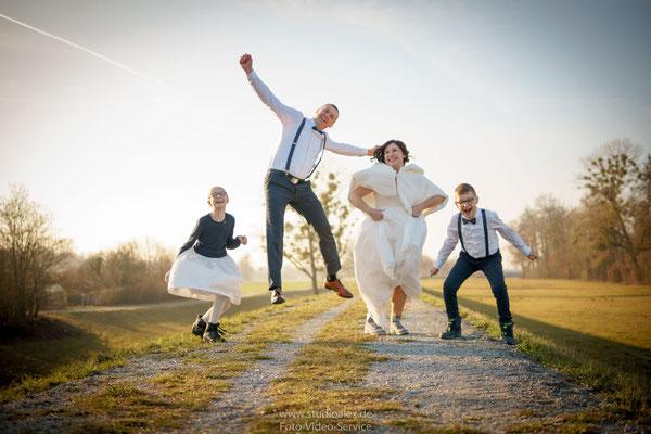 Lustige Hochzeitsfotos in Dingolfing
