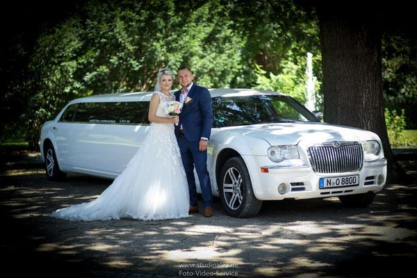 Hochzeitsfotos mit Limousine Nürnberg Fürth