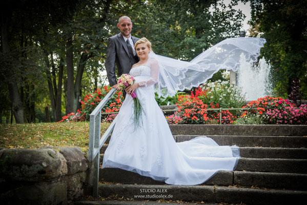 Hochzeitsfotografie in Stadtpark Amberg