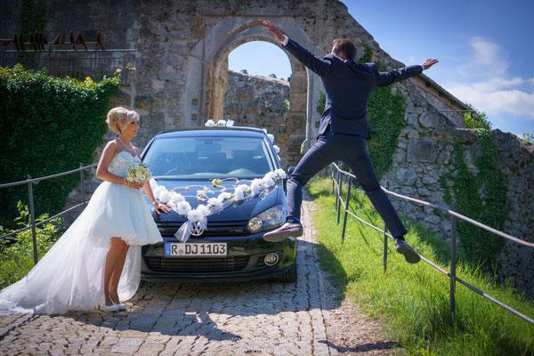 Lustige Hochzeitsbilder im Laaber