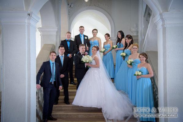 Gruppenfotos Hochzeit Ansbach