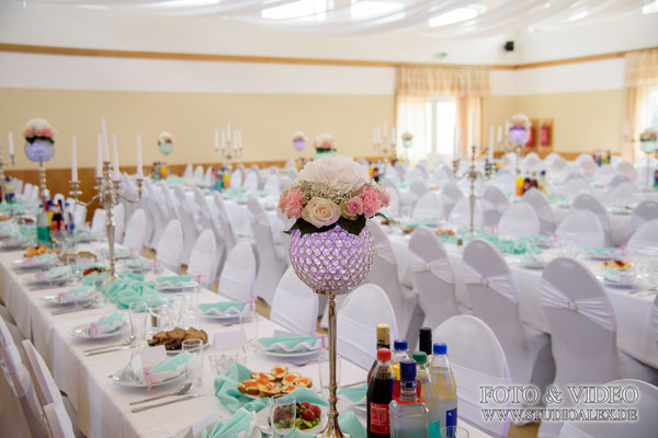 Hochzeitstische Dekoration in Franken