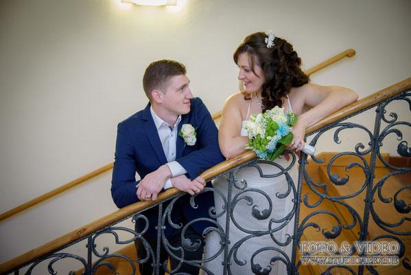 Ideen für Hochzeitsbilder im Rathaus Amberg