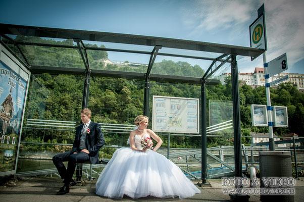 Lustige Hochzeitsfotos in Passau