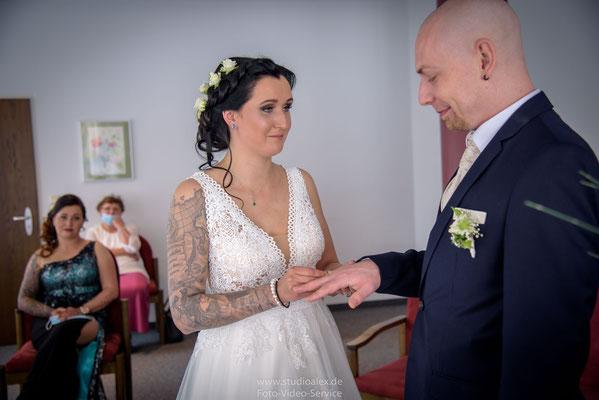 Hochzeitsringe im Standesamt Nürnberg
