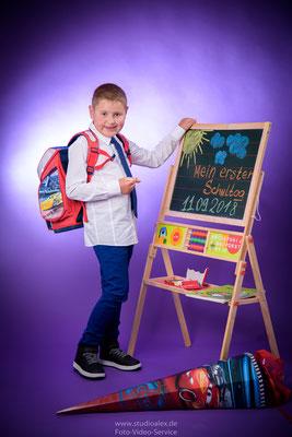 Mein erster Schultag Foto im Fotostudio Amberg