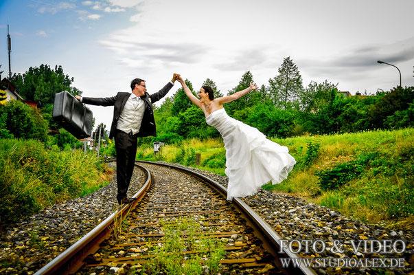 Lustige Hochzeitsfotos Ideen in Bayern