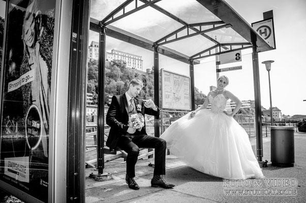 Außergefönliche Hochzeitsfotografie in Passau
