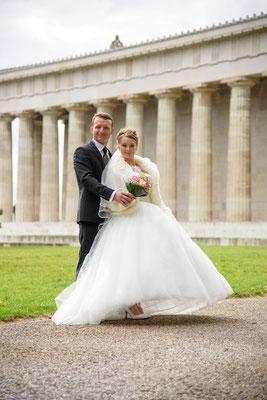 Brautpaar auf der Walhalla