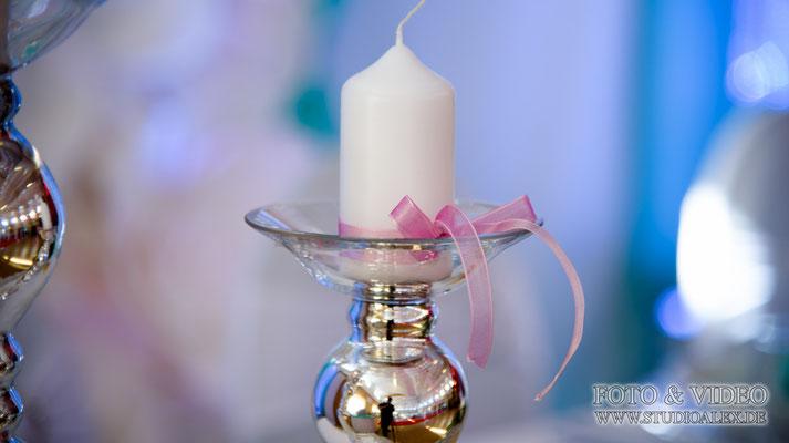 Hochzeitsdekoration Kerze