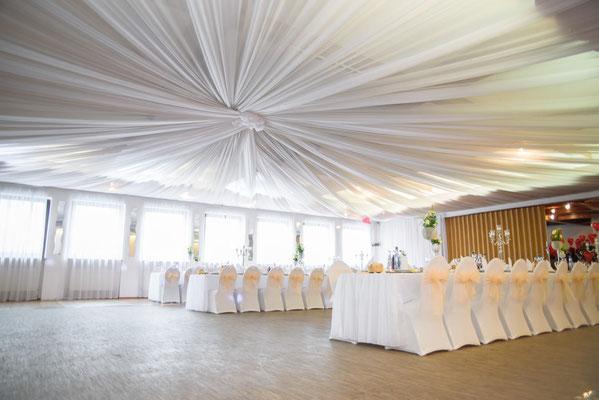 Hochzeitsdeko Himmeldekoration
