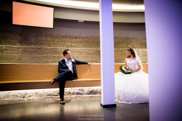 Ideen für Hochzeitsfotografie in Hamburg Planetarium