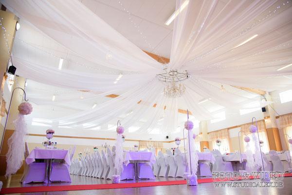 Schöne Hochzeitsdekoration in Bayern